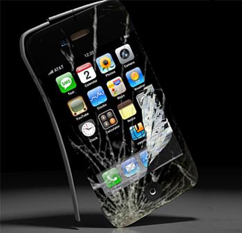Разбитый iPhone требует ремонта